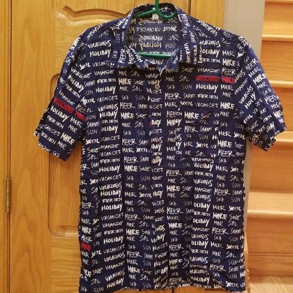 9b4584f6d Moschino Mare Mens Button Down Shirt. M_5a613d7936b9de36e18e56a9